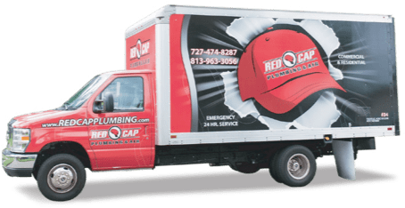 Red Cap Air Conditioning service van