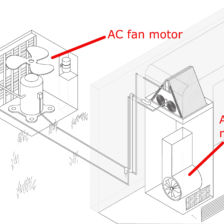 replace central air conditioner motor in tampa florida cost